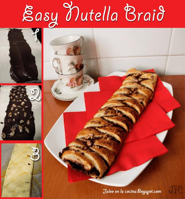 Easy Nutella Braid