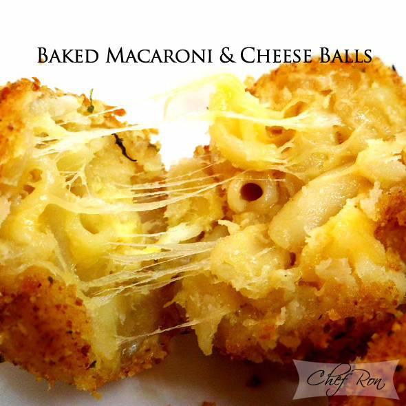 Baked Macaroni & Cheese Balls