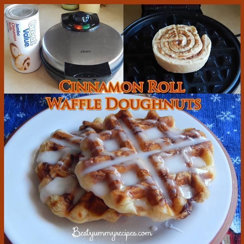 Cinnamon Roll Waffle Doughnuts