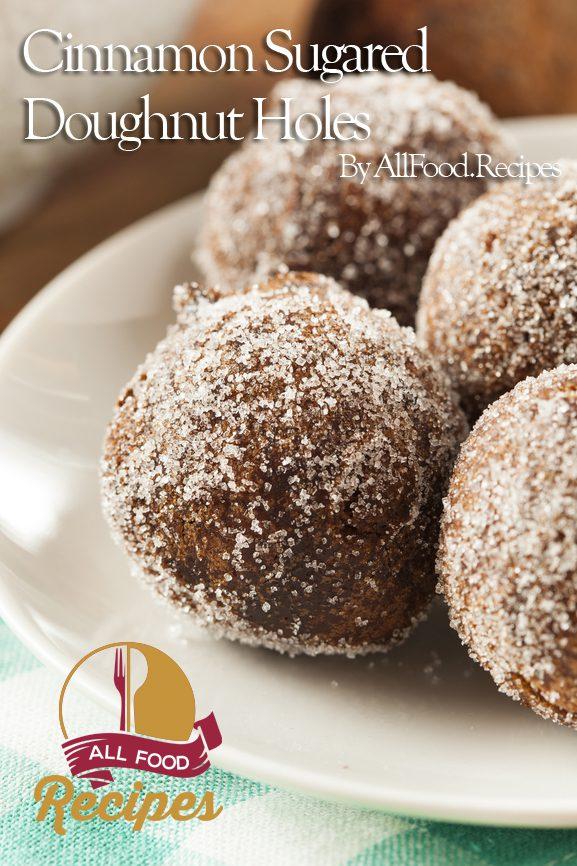 Cinnamon Sugared Doughnut Holes
