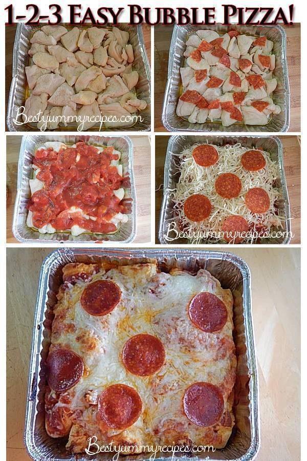 Easy Bubble Pizza