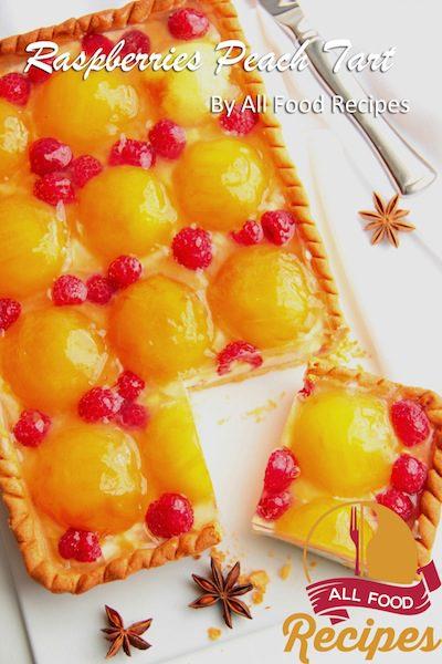 Raspberries Peach Tart
