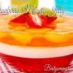 Strawberry Mango Jelly With Cream