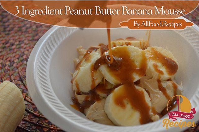 3 Ingredient Peanut Butter Banana Mousse