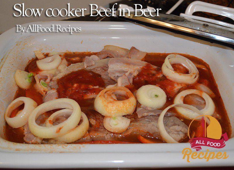 Slow cooker Beef in Beer