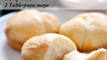 Grandma's easy no yeast dinner rolls